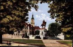 Postcard Stuttgart in Baden Württemberg, Blick auf das Kaiser Wilhelm Denkmal