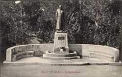 Postcard Bad Wörishofen im schwäbischen Kreis Unterallgäu, Blick auf Kneippdenkmal