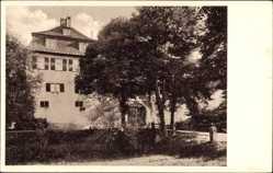 Postcard Ehningen Landkreis Böblingen, Blick auf das Schloss, Eingangstor