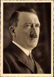 Postcard Führer, Reichskanzler Adolf Hitler, Stempel Geburtstag München 20 April 1938