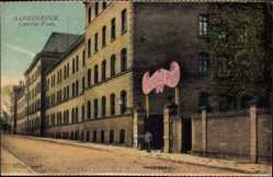 Postcard Saarbrücken im Saarland, Straßenpartie an der Kaserne Foch