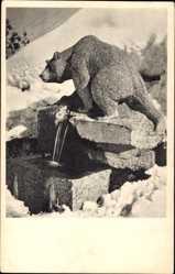 Ak St. Maurice Sankt Moritz Kt. Wallis, Memorial Fountain to Count de Bylandt