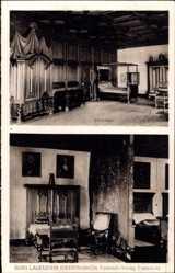 Postcard Lauenstein Ludwigsstadt Oberfranken, Burg, Söllersaal, Askanisches Zimmer
