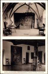 Postcard Lauenstein Ludwigsstadt Oberfranken, Burg, Rittersaal, Oberer Festsaal