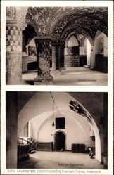 Postcard Lauenstein Ludwigsstadt Oberfranken, Burg, Orlamündersaal, Erdgeschoss Halle