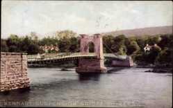 Postcard Kenmare Kerry Irland, Suspension Bridge, Brücke, Gewässer, Wald