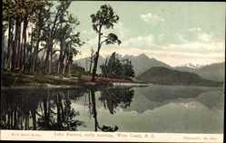 Ansichtskarte / Postkarte West Coast Neuseeland, Lake Kanieri, early morning, Berge, See, Wald