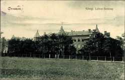 Ak Ośno Lubuskie Drossen Ostbrandenburg, Blick auf das Königliche Lehrer Seminar