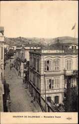 Postcard Saloniki Griechenland, Monastere Russe, Straßenpartie, Russ. Kloster