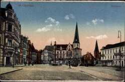 Postcard Mönchengladbach in Nordrhein Westfalen, Blick auf den Marktplatz