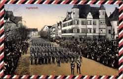 Passepartout Ak Ingolstadt an der Donau Oberbayern, Marschkapelle, Soldaten