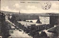 Postcard Stuttgart in Baden Württemberg, Große Infanterie Kaserne