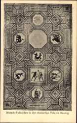 Postcard Nennig Perl Saarland, Mosaik Fußboden in der römischen Villa