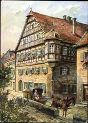 Künstler Ak Freytag, C., Kronach im Frankenwald Bayern, Kommandantenhaus
