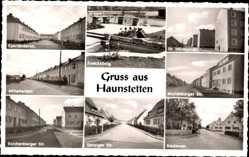 Postcard Haunstetten Augsburg in Schwaben, Froschkönig, Danziger Straße