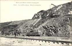 Postcard Brasilien, Etat de Minas Geraes, Mine de manganèse, Bergbaumine