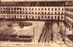 Ak Brest Finistère, Vue Générale du 2e Dépôt, Inspection