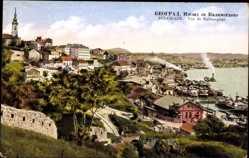 Postcard Belgrad Serbien, Vue de Kalimegdan, Panorama, Hafen