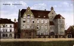 Postcard Augsburg in Schwaben, Außenansicht der Schillerschule