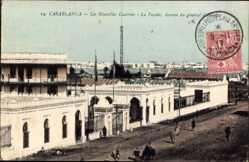 Ak Casablanca Marokko, Les Nouvelles Casernes, la Facade,Ave. du General d'Amade