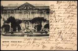 Postcard Queluz Portugal, Palacio Real, Palast, Neptunbrunnen
