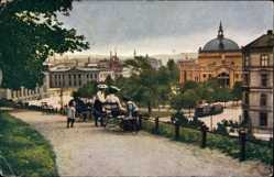 Postcard Christiania Oslo Norwegen, Universitetet og Nationaltheatret