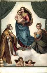Die sixtinische Madonna, Raffaello Santi, 29712