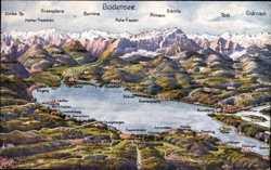 Landkarten Ak, Bodensee