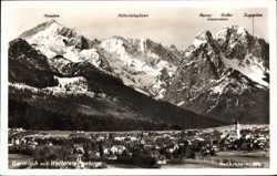 Panorama mit Wettersteingebirge