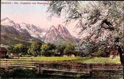 Zugspitze und Waxenstein