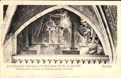 Eröffnung Gruft Karls des Großen, Fresko