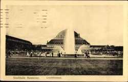 Leuchtbrunnen, Stadthalle