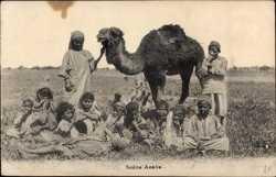 Kinder mit Kamel