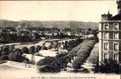 Vue sur le Jurancon, Boulevard des Pyrenees