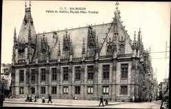 Palais de Justice, Facade Place Verdrel