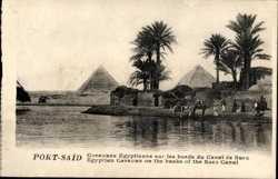 Caravane Egyptienne sur les bords du Canal de Suez
