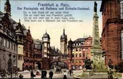 Einheitsdenkmal, Paulsplatz, Rathaus